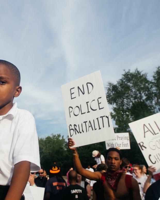 Police brutality rally