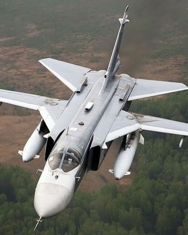 Sukhoi SU-24, a plane similar to the one shot down near the Turkey-Syria border