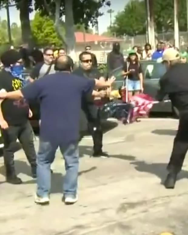 KKK, Counter-Protesters Fight At Rally (Video) Promo Image