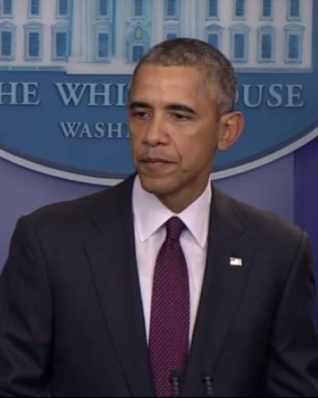 Screen capture, President Barack Obama addressing Oregon shooting