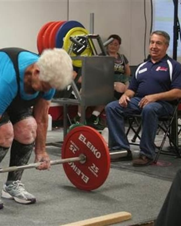 78-Year-Old Grandma Breaks Weightlifting Record Promo Image