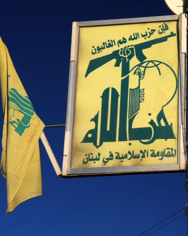 Hezbollah's logo displayed in Lebanon