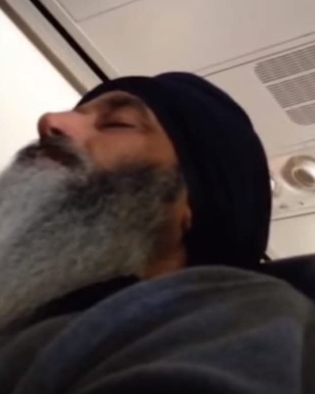 Dashan Singh On A Flight.