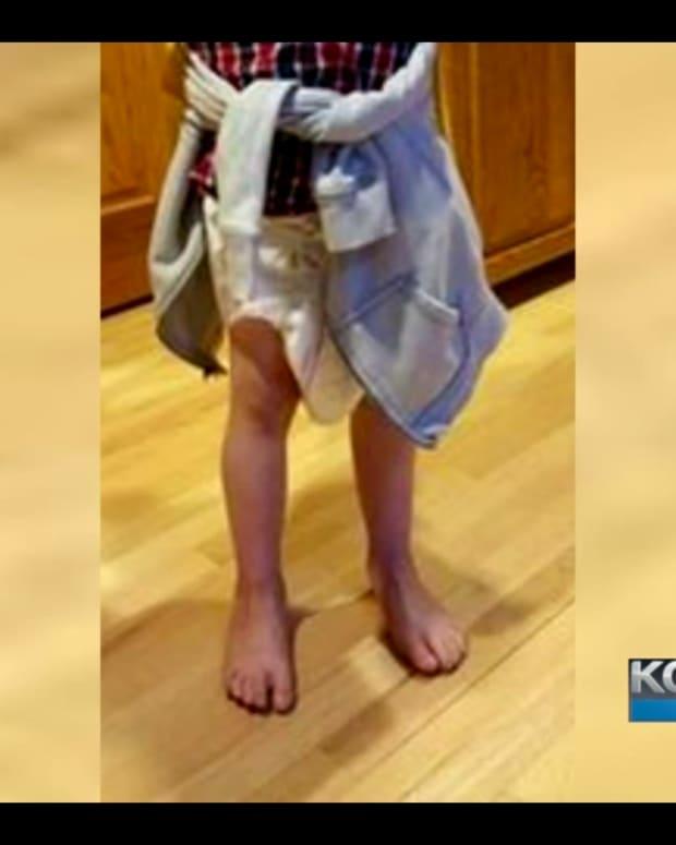 child wearing diaper