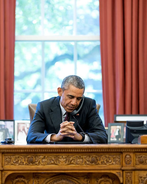 President Barack Obama in the Oval Office