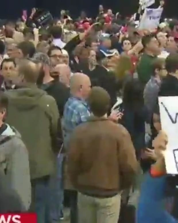 Chaos In Chicago After Trump Rally Is Canceled (Video) Promo Image