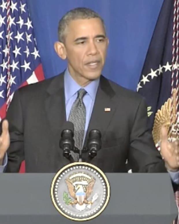 U.S. President Barack Obama During Paris Climate Summit