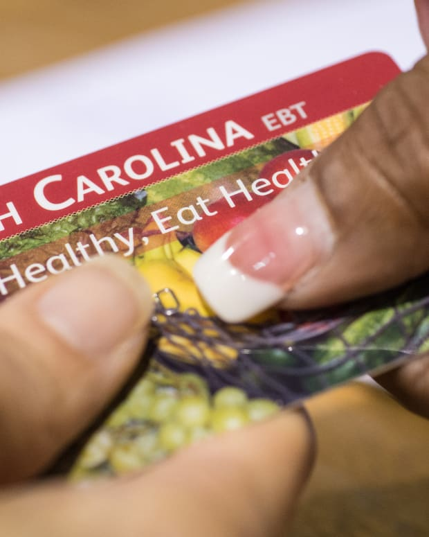The USDA issues Electronic Benifits Transfer (EBT) cards to eligible recipients of the Supplemental Nutrition Assistance Program.