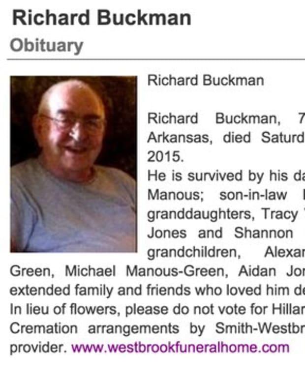 Richard Buckman's obituary