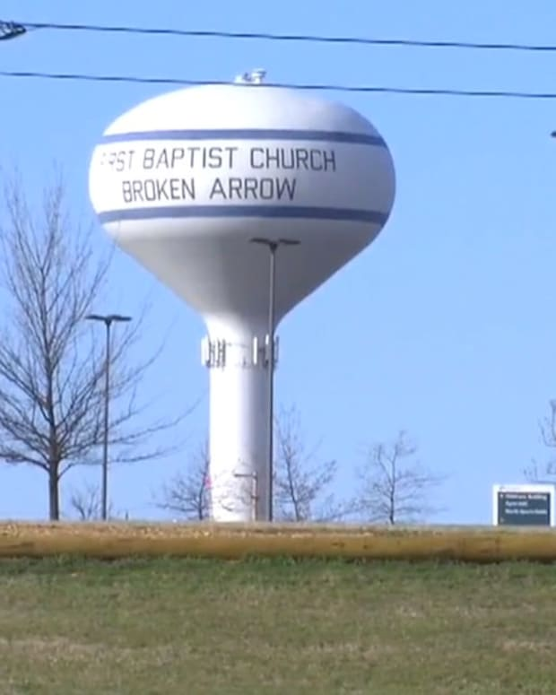 Oklahoma Town Keeps Church Name On Water Tank (Video) Promo Image
