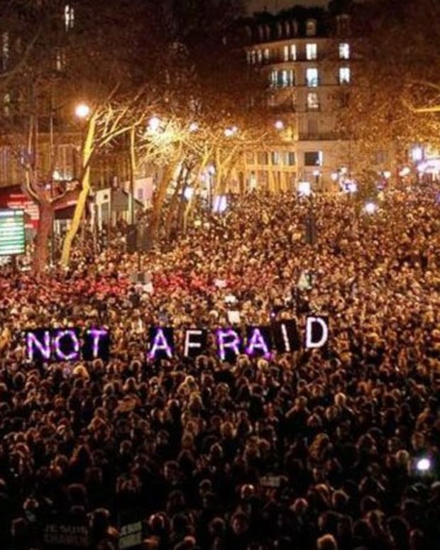 people coming together in response to paris attacks