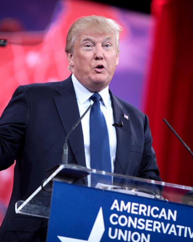 Donald Trump onstage