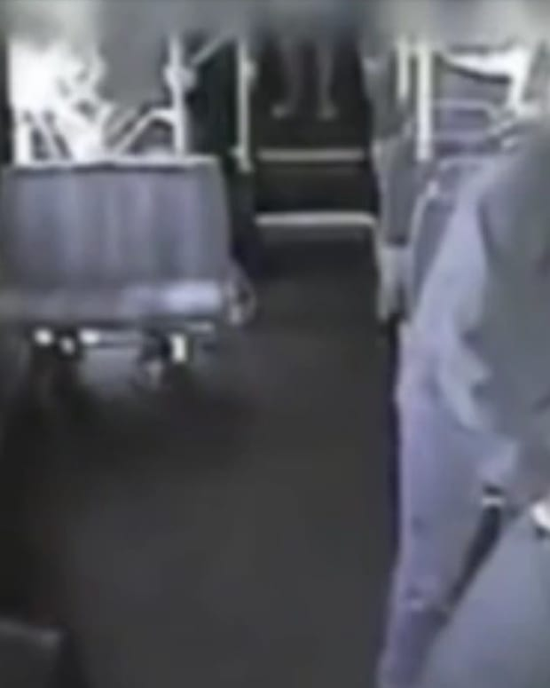Bus Driver Stops Attack With Heroic Act (Video) Promo Image