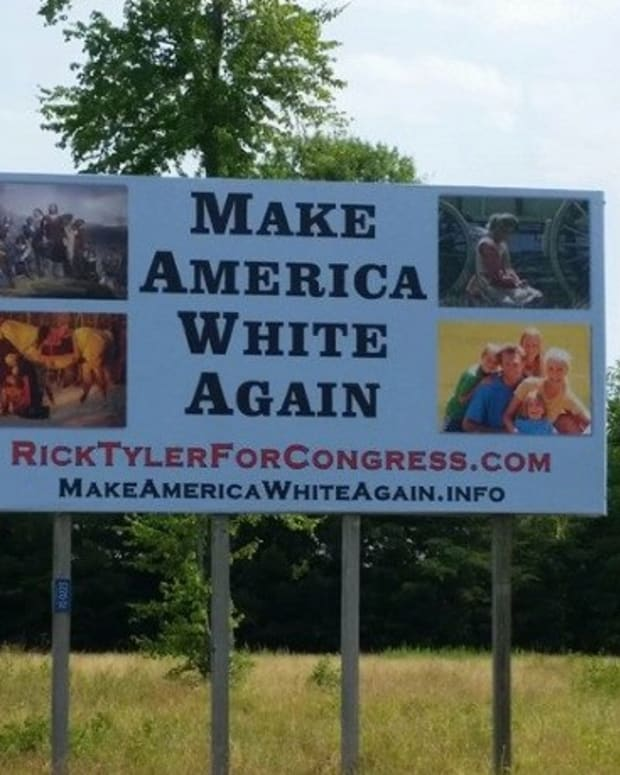 Tennessee Candidate: 'Make America White Again' Sign Promo Image