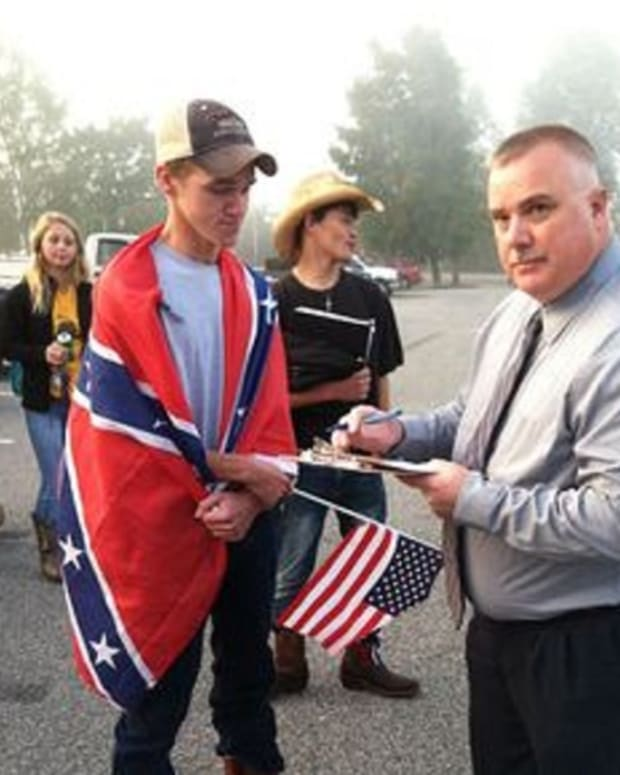 confederate flag protest