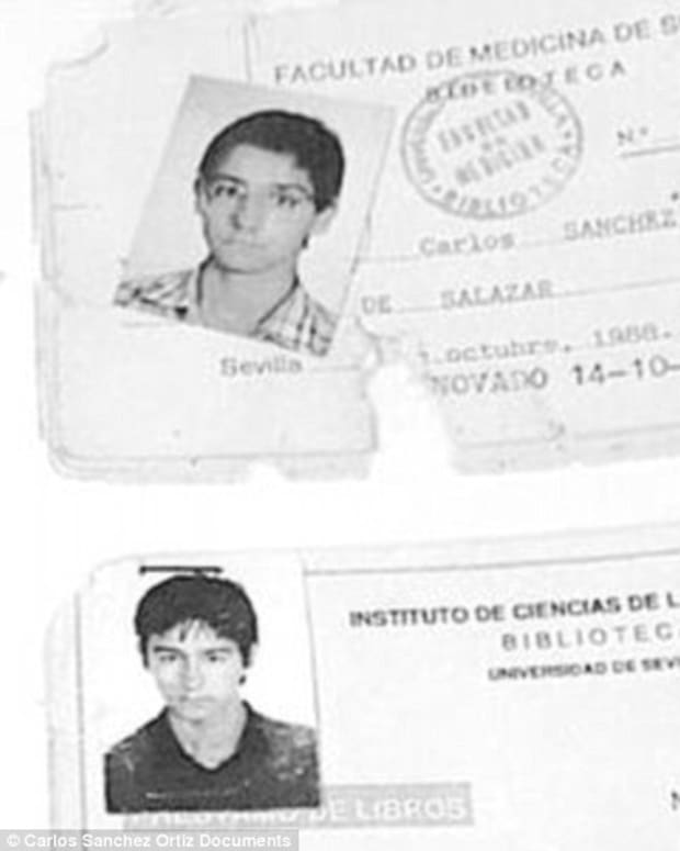 Carlos Sanchez Ortiz de Salazar documents from before he disappeared