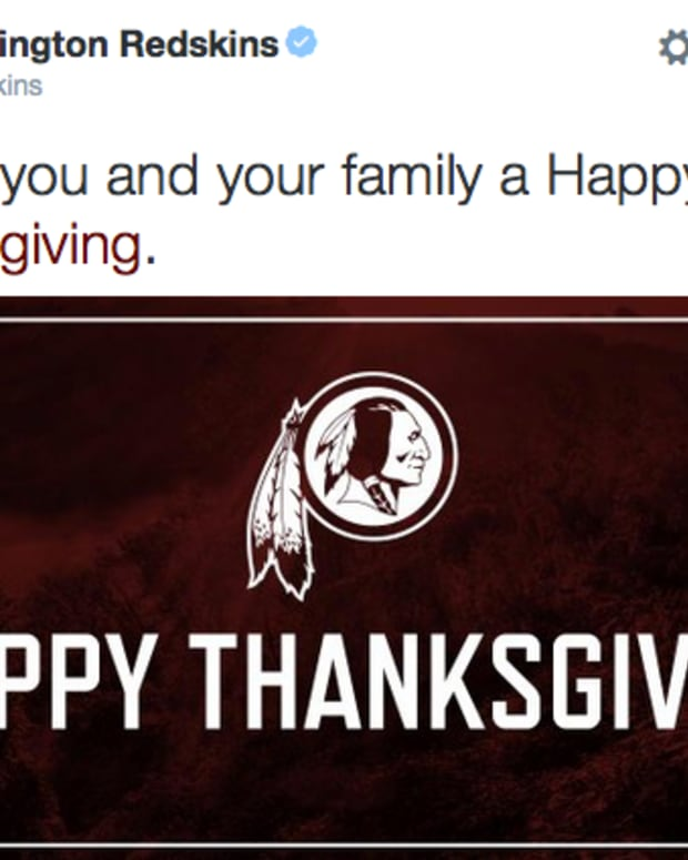 Washington Redskins Happy Thanksgiving Tweet