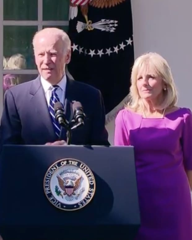 Vice President Joe Biden At The White House.