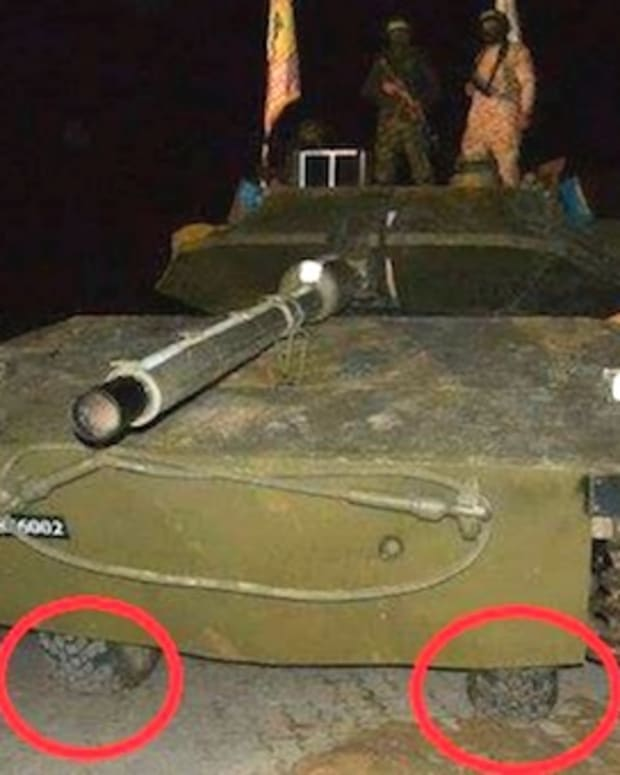 Hamas' fake tank