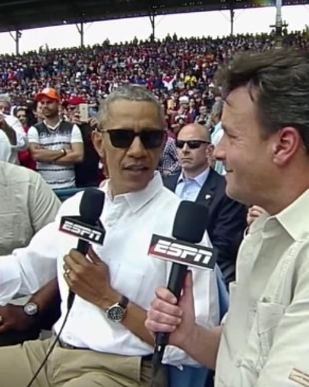 Obama Explains Why He Attended Baseball Game (Video) Promo Image