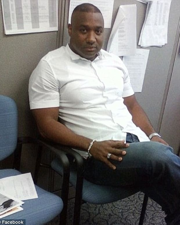 convicted rapist alejandro done, pictured sitting in an office
