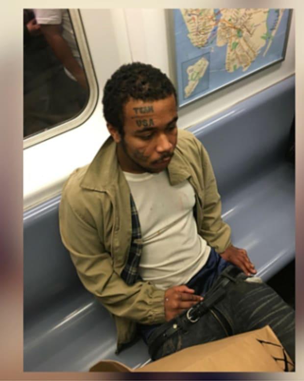 Masturbator on Subway.