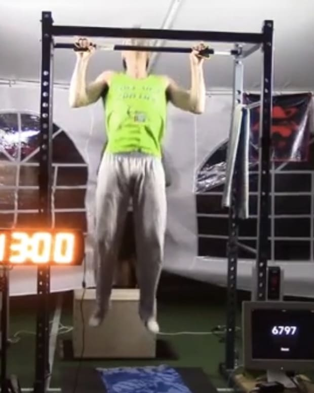 High Schooler: 7,306 Pull-Ups For World Record (Video) Promo Image