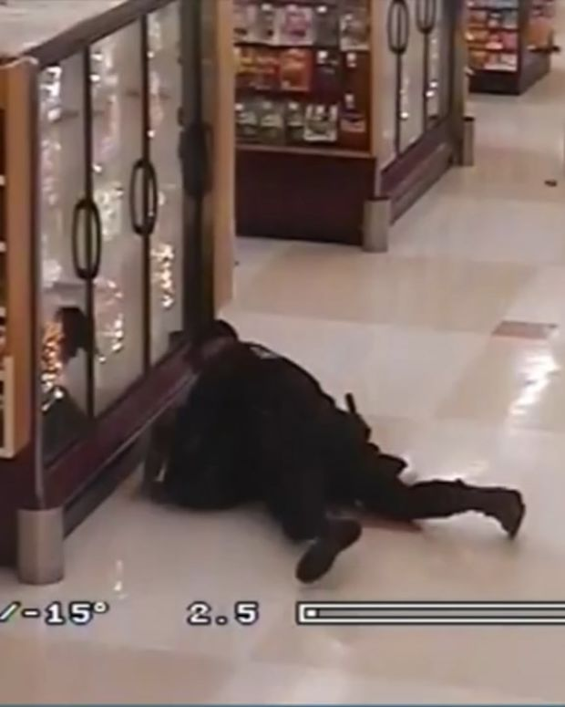 Shopper Uses Grocery Cart To Stop Suspect (Video) Promo Image