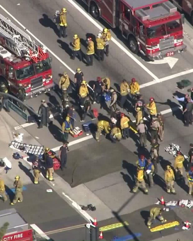 the scene of an active shooting in california
