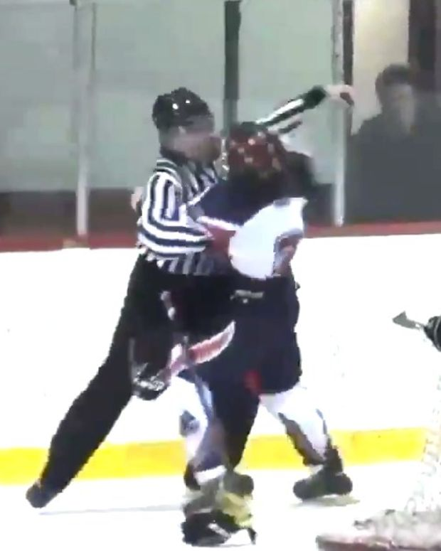 Canadian Junior Hockey Player Fights Referee (Video) Promo Image