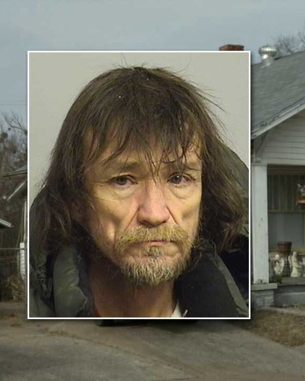 House where the couple lived with infant, Inset: Kevin Lee Crawford