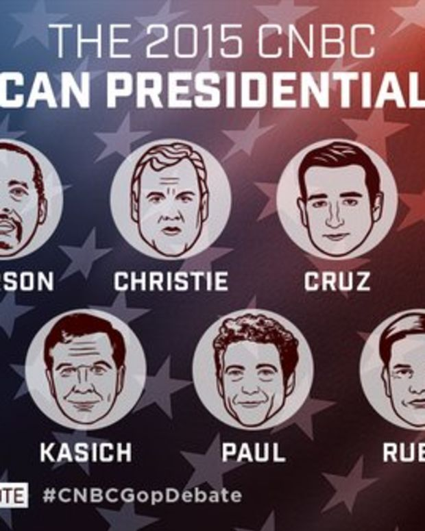 GOP candidate lineup, released by CNBC