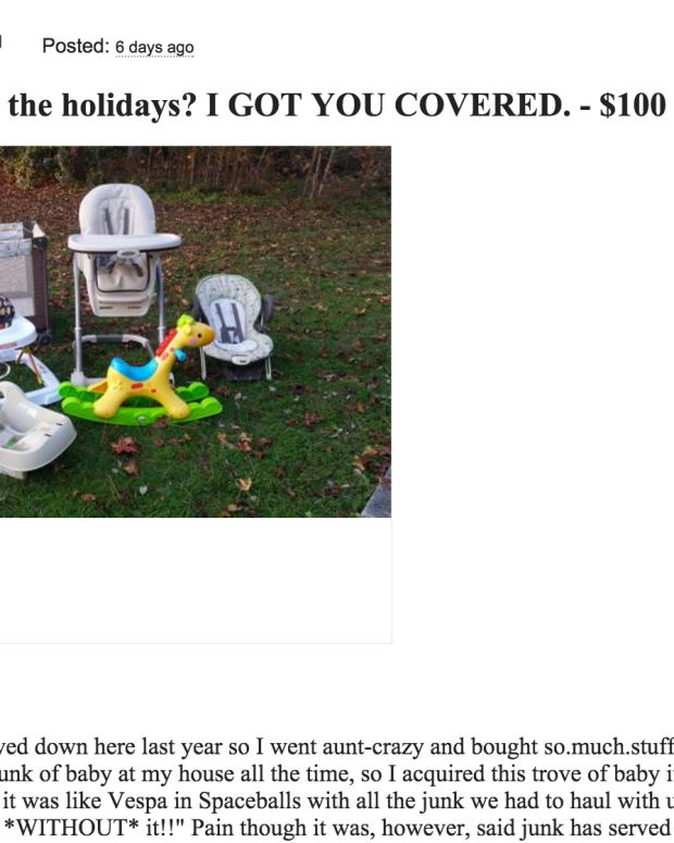 screenshot from craigslist