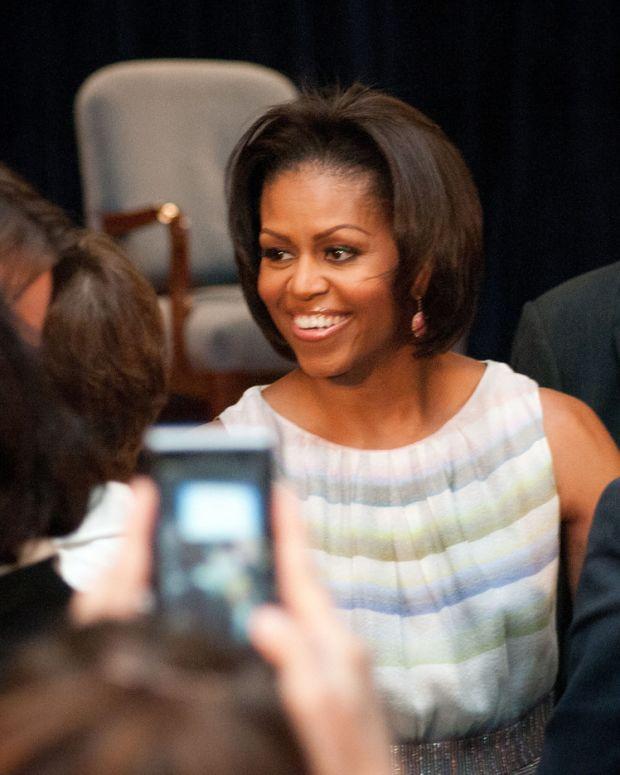 Michelle Obama, Melania Trump Cartoon Ignites Twitter Promo Image