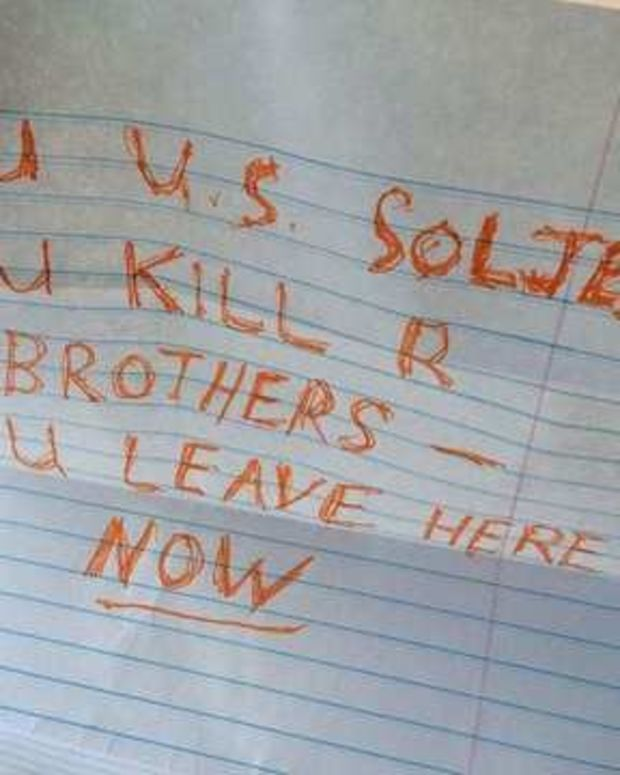 Army Veteran Finds Threatening Note On Windshield Promo Image