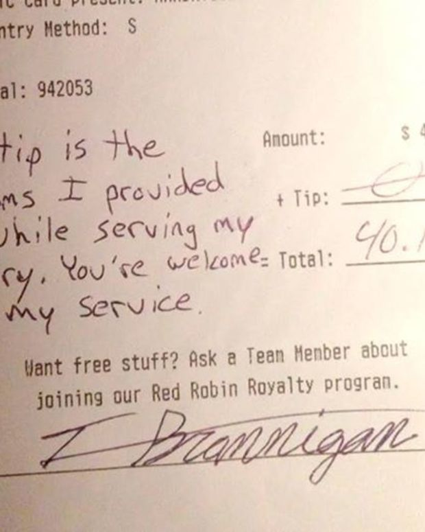 military member's note on receipt