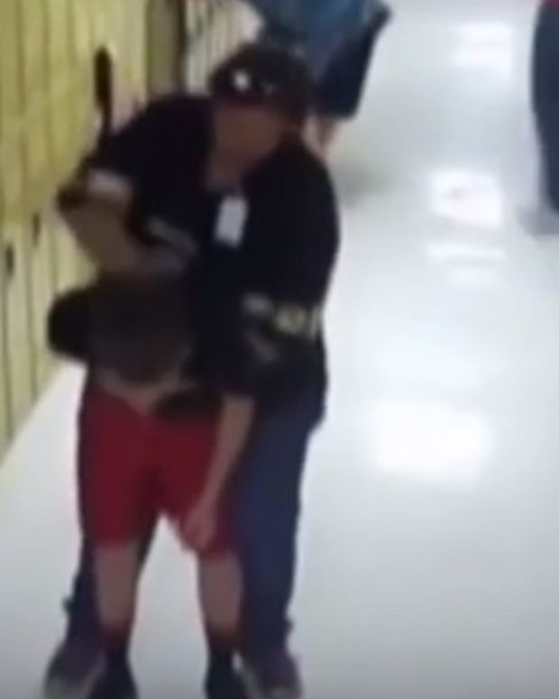 teacher Betsy Berry saving a student from choking