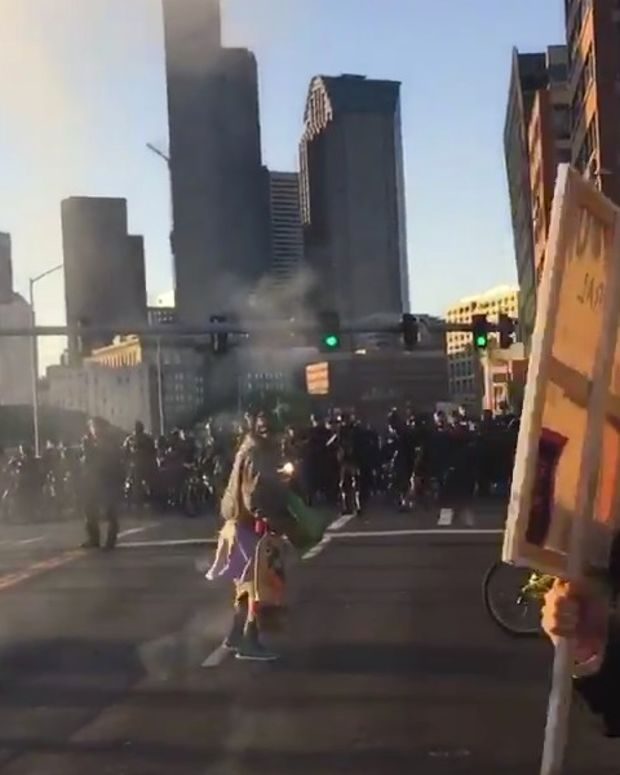 Man Injured After Seattle Police Toss Blast Ball (Video) Promo Image