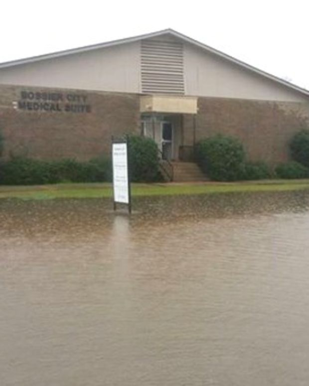 Christian Group Cheers Flood Water Near Abortion Clinic Promo Image