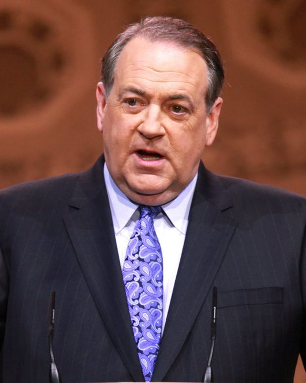 Mike Huckabee speaking at the 2014 Conservative Political Action Conference in National Harbor, Maryland.
