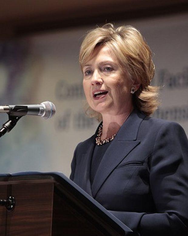 Hillary Clinton speaking.