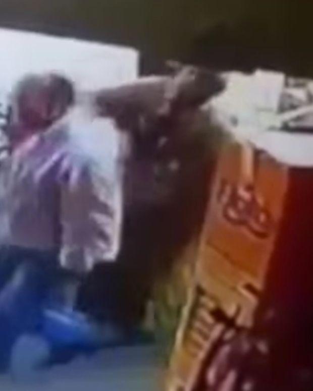 Woman Punching Her Assailant.