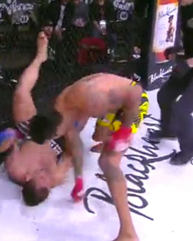 MMA Fighter Pounds Opponent After Knockout (Video) Promo Image