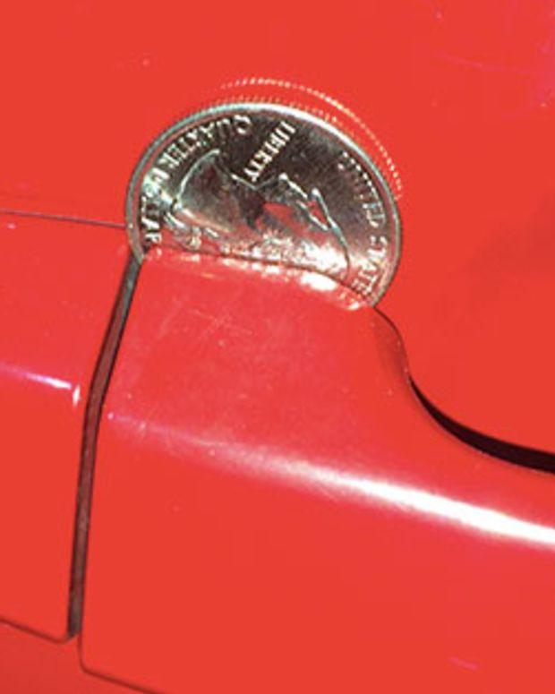 Coin In Car Door.