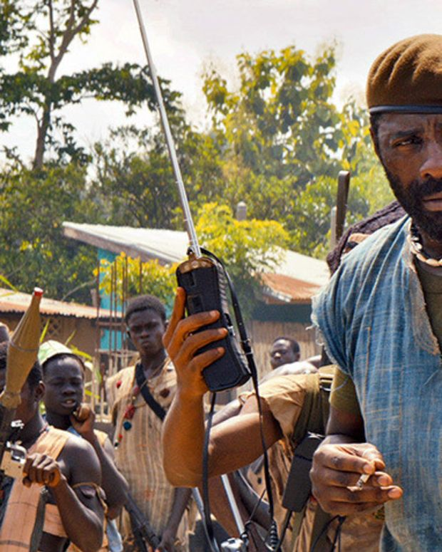 "Idris Elba in ""Beasts of No Nation."""
