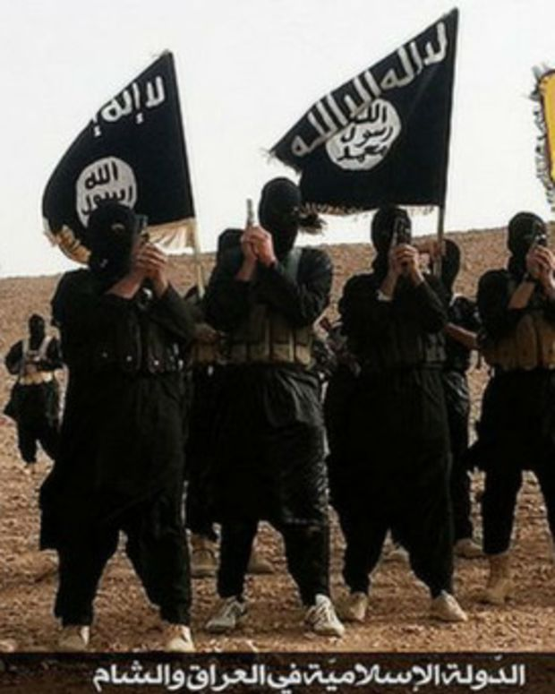 ISIS Fighters in Iraq's Al-Anbar Province.