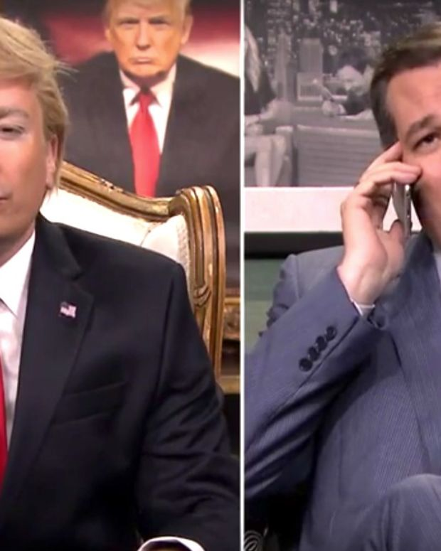 Jimmy Fallon Does His 'Trump' With Ted Cruz (Video) Promo Image