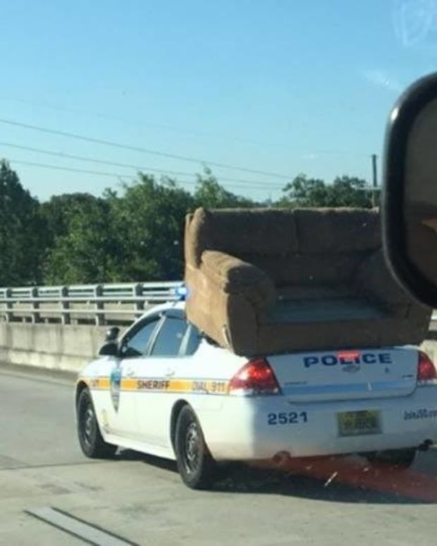 Cops Remove Couch That Was Blocking Traffic Promo Image