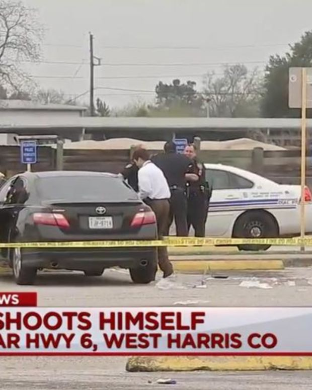 The aftermath of the shooting in Katy, Texas