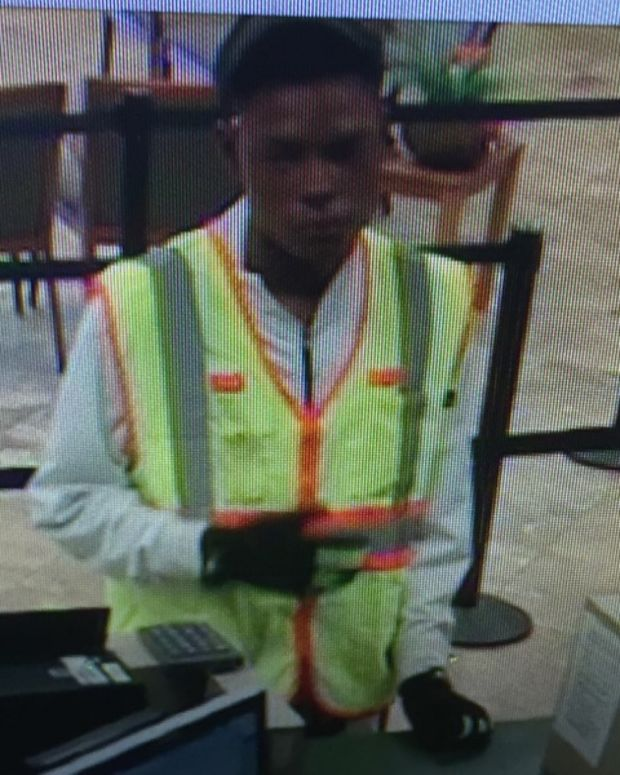 Bank Robbery Suspect, From Bank's Surveillance Footage.